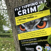 Picture of fly-tipping warning poster