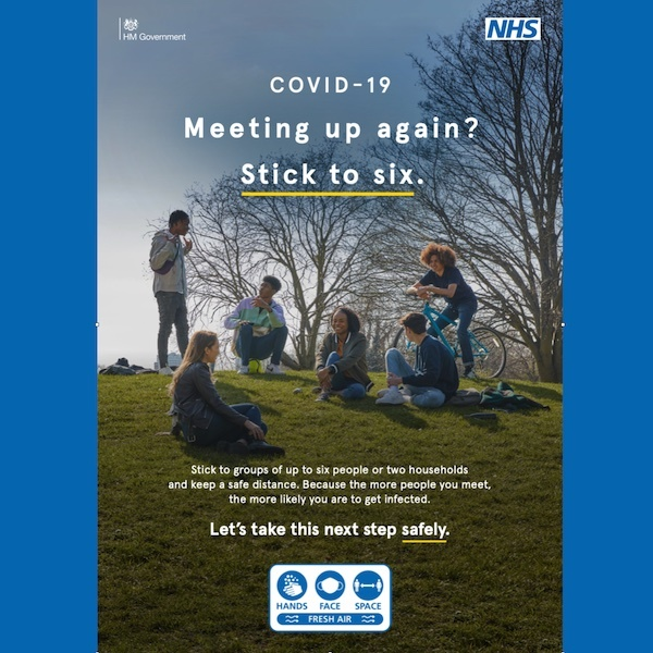 Covid-19 meet outside safely poster