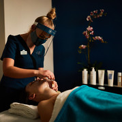 Customer being given a treatment at Turkish Baths Harrogate