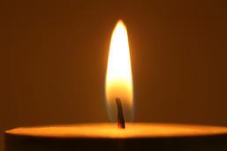 Holocaust candle