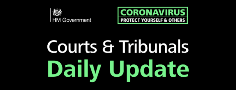 HM Courts and Tribunals Operational Update Coronavirus