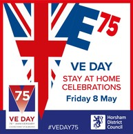 VE Day from home square