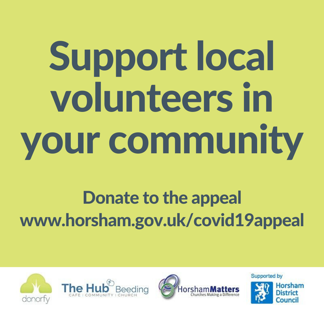 Support volunteers in your local area COVID-19 apperal
