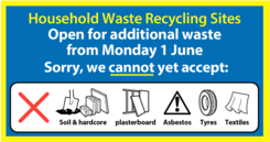 Household Waste Recycling Sites accepting more items from June 1