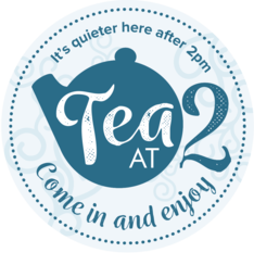 Tea at 2 sticker