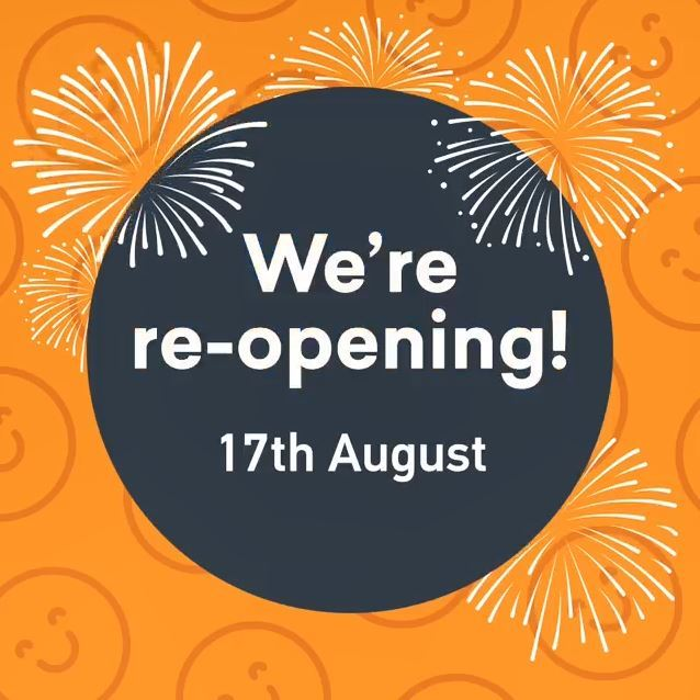 Leisure Centres reopening 17 August