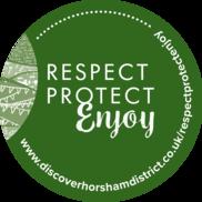 Respect Protect Enjoy sticker