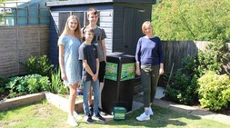 Recycling Champion Amanda and family