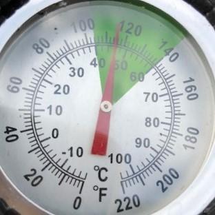 Hot bin temperature shows 47 degrees
