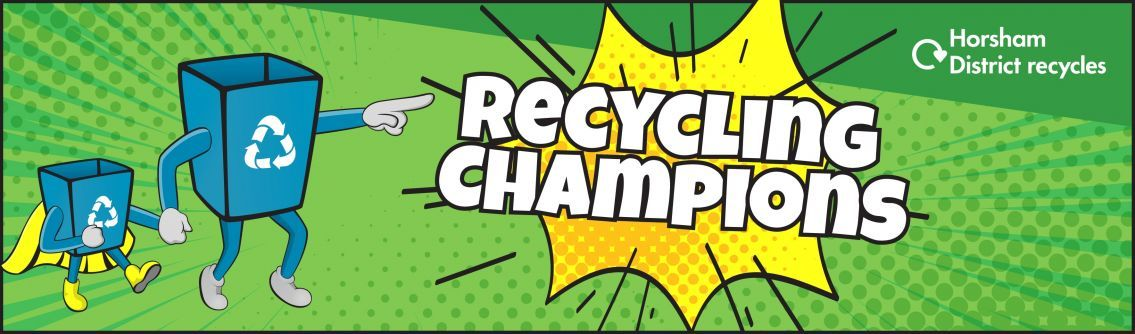 Recycling champion banner