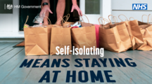 Self-isolating means staying at home
