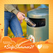 Help us have a safe summer. Please get rid of your litter responsibly