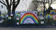 Isleworth school NHS banner