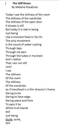 Stillness poem