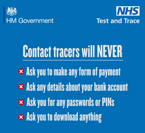 Contact tracers NHS test and trace