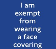 TFL face covering exemption card