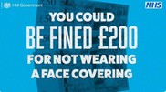 Fines for not wearing a face covering