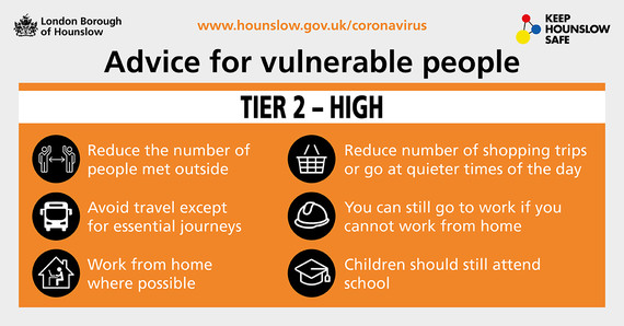 Tier 2 advice for vulnerable people