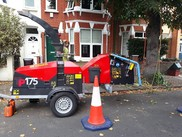 Hounslow Highways electric wood chipper
