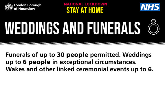Weddings and funerals advice