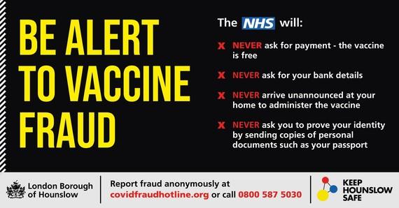 Be Alert to Vaccine fraud
