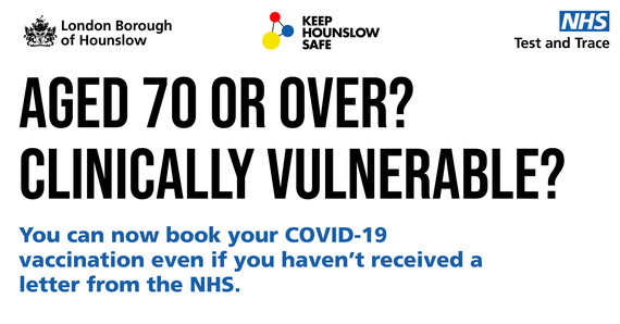 If you're 70+ or vulnerable you can book your appointment
