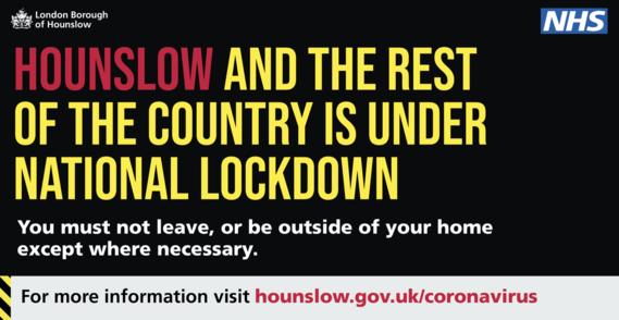 Hounslow is still under lockdown