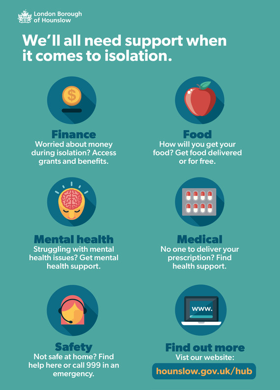 Isolation support graphic