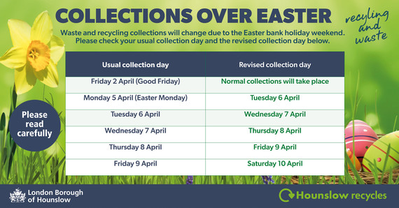 Easter collection dates