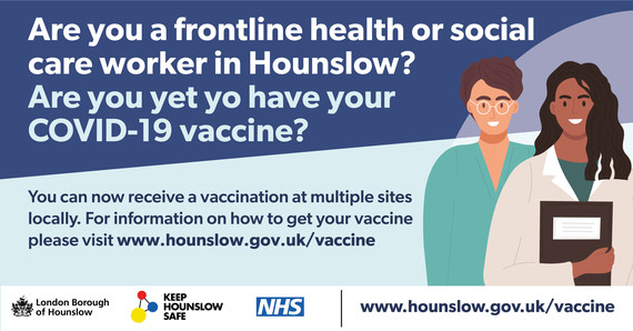 Frontline health or social care worker vaccine April 21