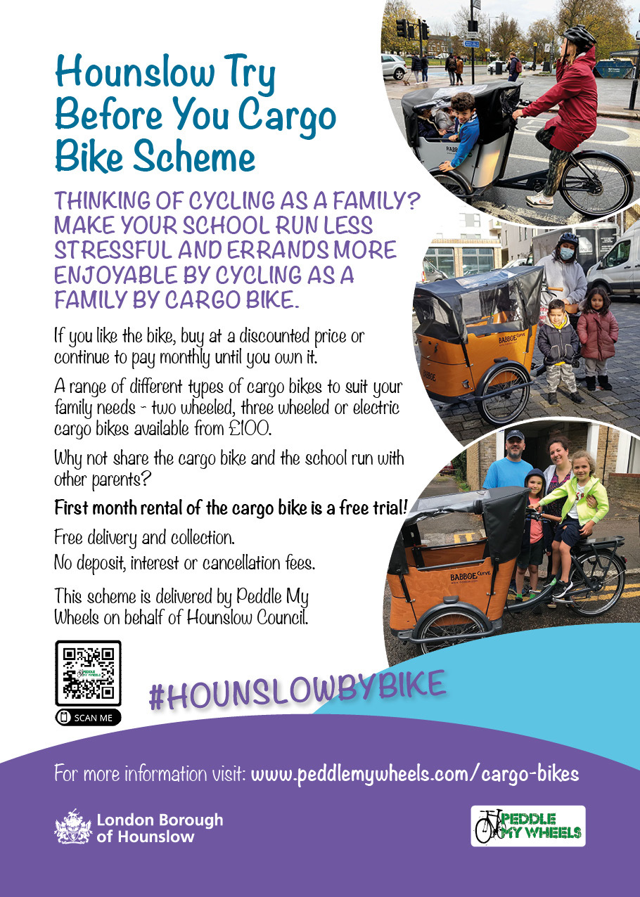 Try before you bike - cargo bike family scheme