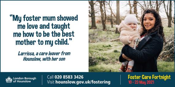 Foster Care fortnight - Larrissa