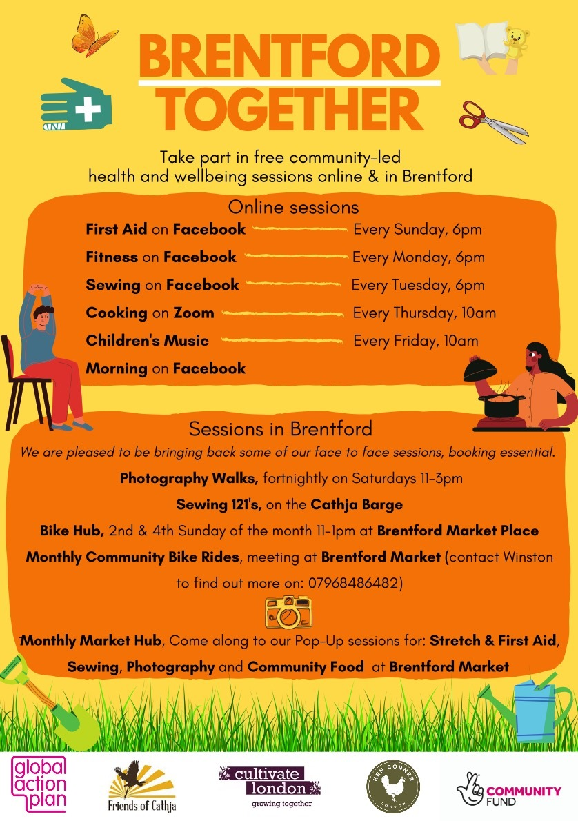 Brentford Together. Take part in free community led health and wellbeing sessions