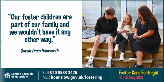 Foster Care fortnight, our foster children are part of our family