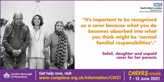 Sefali, daughter and unpaid carer for her parents, Carers Week 2021