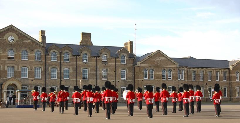 Hounslow Cavalry Barracks, Irish Guards parade