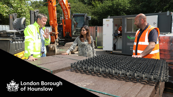 Cllr Samia Chaudhary Cabinet Member for Leisure Services visits Hounslow Heath car park