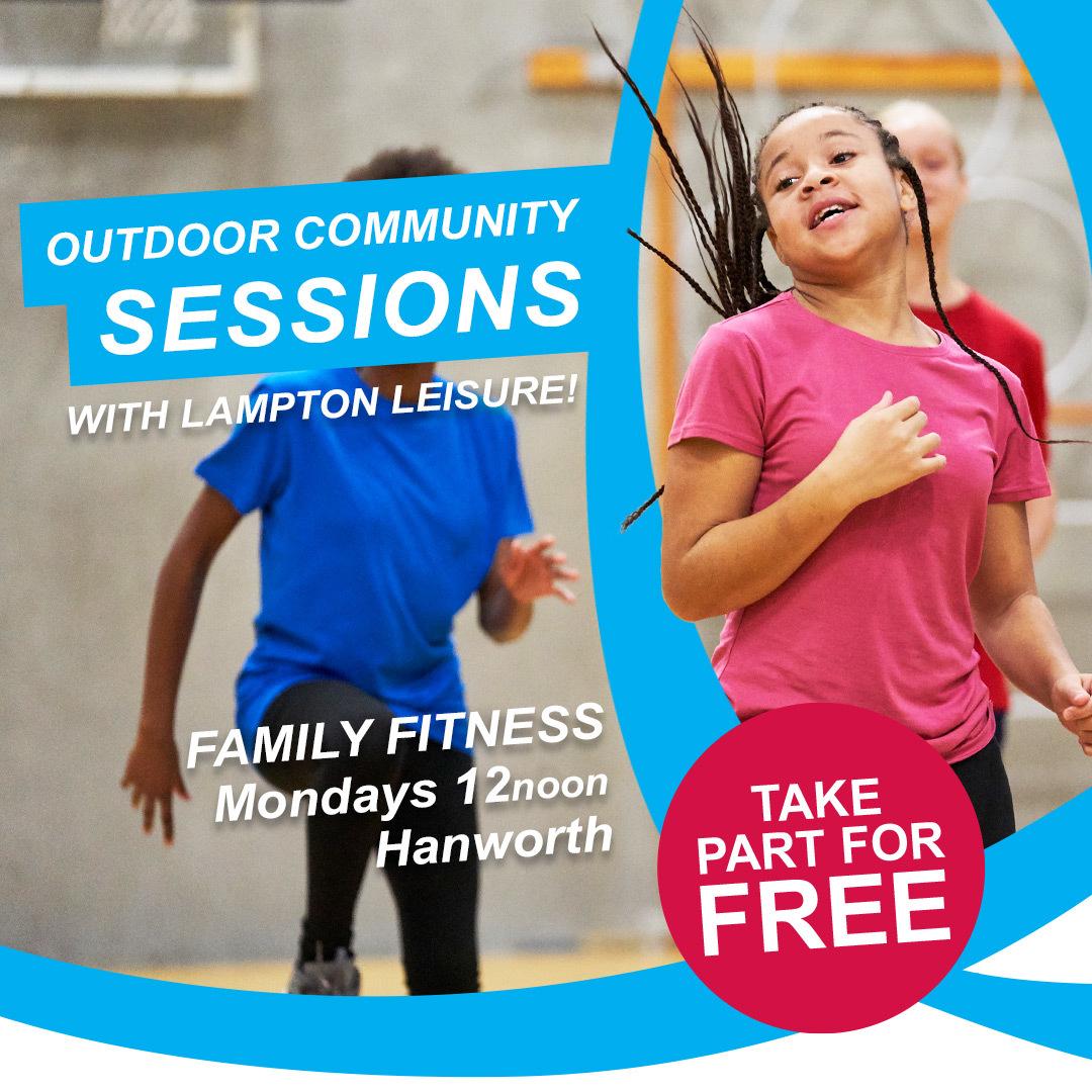 Free family fitness session Hanworth