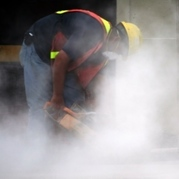 Harmful dust in construction