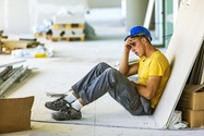 construction worker stressed