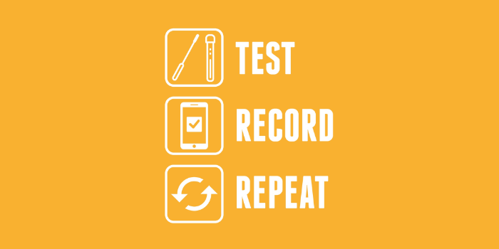 Test, record, repeat