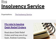 Insolvency Service Blog frontpage