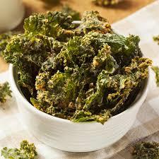 a bowl of kale crisps