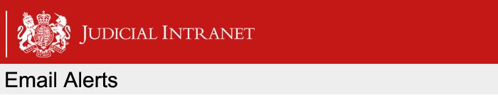 Judicial Intranet Email Alerts banner image
