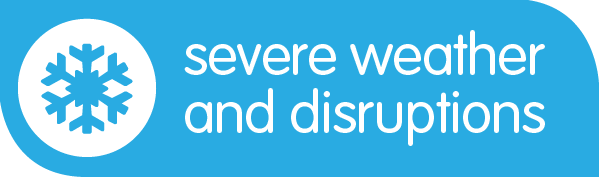 Severe Weather and Disruptions banner image