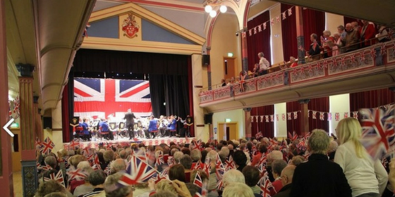 KTH Cleckheaton Town Hall internal flag 600x300