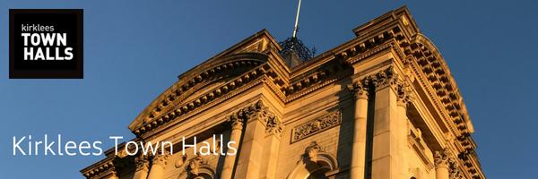 Kirklees Town Halls Huddersfield Town hall External Banner