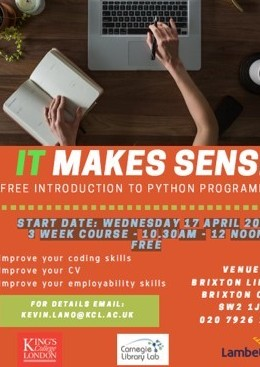 IT makes sense! Free Introduction to python programming