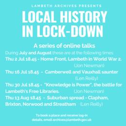Lambeth Archives talks