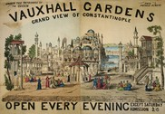 Grand view of Constantinople at Vauxhall Gardens in 1855